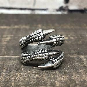 NEW Ethnic Dragon Claw Silver-tone Ring